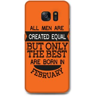 Samsung Galaxy S7 Designer Hard-Plastic Phone Cover from Print Opera -Feb born for men in orange