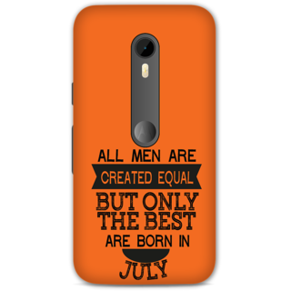 Moto G3 Designer Hard-Plastic Phone Cover from Print Opera -Men are created equal