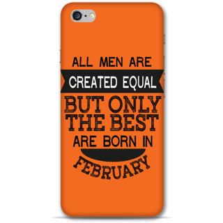IPhone 6-6s Plus Designer Hard-Plastic Phone Cover from Print Opera -Feb born for men in orange
