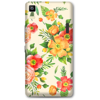 Lenovo K3 Note Designer Hard-Plastic Phone Cover from Print Opera -Yellow floral