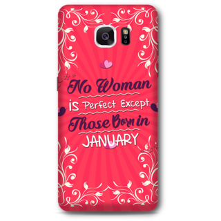 Samsung Galaxy Note 5 Designer Hard-Plastic Phone Cover from Print Opera -Woman Born In January