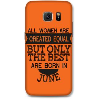 Samsung Galaxy S6 Designer Hard-Plastic Phone Cover from Print Opera -Women Born in June
