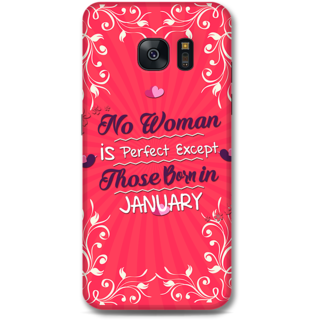 Samsung Galaxy S7 Designer Hard-Plastic Phone Cover from Print Opera -Woman Born In January
