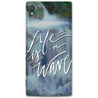 Sony Xperia Z5 Premium Designer Hard-Plastic Phone Cover from Print Opera -Life is a wave