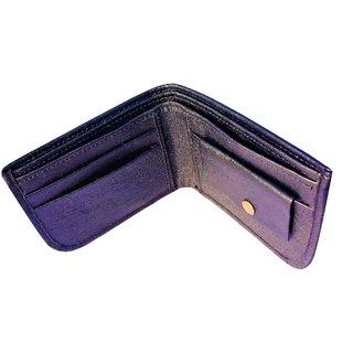 Friends Company Stylish Mens Black Genuine Leather Wallet-FashioncodeFC76