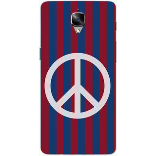 detailed look 1335b 7116e OnePlus 3T Case, One Plus 3 Case, Peace Red Blue Strips Slim Fit Hard Case  Cover/Back Cover for OnePlus 3/OnePlus 3T