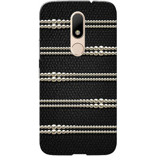 sports shoes f5f35 57baa Moto M Case, Pearls Black Slim Fit Hard Case Cover/Back Cover for Motorola  Moto M