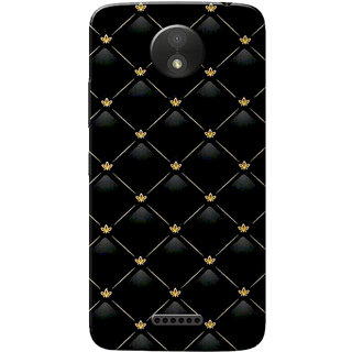 official photos e8412 3fe2c Moto C Plus Case, Pattern Black Slim Fit Hard Case Cover/Back Cover for  Motorola Moto C Plus