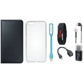 Lenovo K5 Luxury Cover with Memory Card Reader, Silicon Back Cover, Digital Watch, Earphones, USB LED Light and OTG Cable