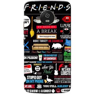brand new 3223c 6f1e6 Moto G5 Case, Friends Black Slim Fit Hard Case Cover/Back Cover for  Motorola Moto G5/Moto G 5th Gen