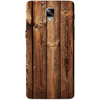 online store e381c ad715 Buy OnePlus 3T Case, One Plus 3 Case, Dark Brown Wood Slim Fit Hard ...