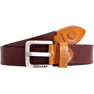 SCHAR Brown Pure Leather Belt for Men's