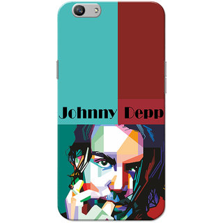 Oppo F1S Case, Johnny Deep Green Red Slim Fit Hard Case Cover/Back Cover for OPPO F1s