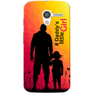 Moto X 2013 Case, Daddys Girl PinkYellow Slim Fit Hard Case Cover/Back Cover for Motorola Moto X 2013