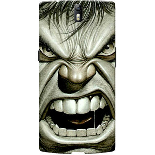 OnePlus One Case, One Plus One Case, Huuk Slim Fit Hard Case Cover/Back Cover for OnePlus One