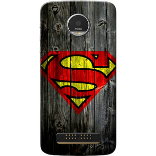 Moto Z Play Case, Super Wood Slim Fit Hard Case Cover/Back Cover for Motorola Moto Z Play