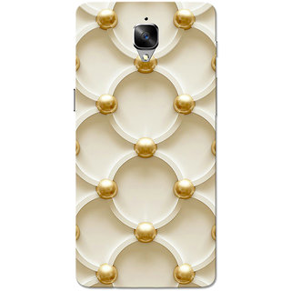 OnePlus 3T Case, One Plus 3 Case, Golden White Pattern Slim Fit Hard Case Cover/Back Cover for OnePlus 3/OnePlus 3T
