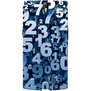 OnePlus One Case, One Plus One Case, Numbers Slim Fit Hard Case Cover/Back Cover for OnePlus One