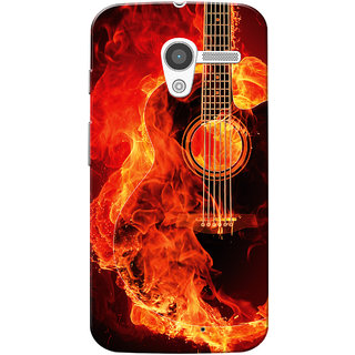 Moto X 2013 Case, Burning Guitar Slim Fit Hard Case Cover/Back Cover for Motorola Moto X 2013