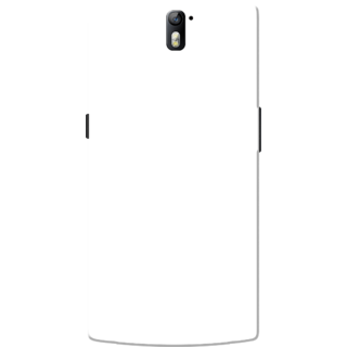 OnePlus One Case, One Plus One Case, Plain White Slim Fit Hard Case Cover/Back Cover for OnePlus One