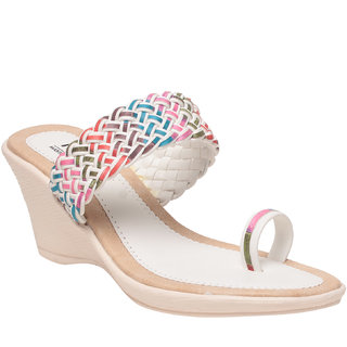 MSC Women's White Wedges