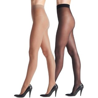 fcd3b25f46516 Buy Rock Hudson Present Women s Black   Beige Sheer Pantyhose   Stockings  Pack of 2 Online - Get 55% Off