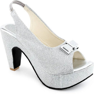 Vaniya shoes Women's Silver Cone Heels