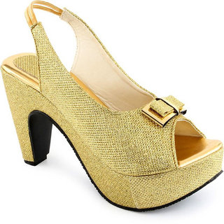 cheap 2014 unisex Vaniya shoes Gold Cone Heels sale footlocker finishline SYUzTt