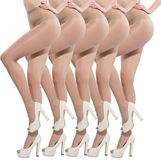 aeff729b370dd Buy Rock Hudson Present Women s Beige Sheer Pantyhose   Stockings Pack of 5  Online - Get 51% Off