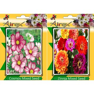 Flower Seeds By Airex Cosmos Mixed, Sungold and Tithonia (Summer) Flower Seed (Pack Of 25 Seed * 3 Per Packet)