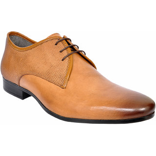 Allen Cooper ACFS-12111 Tan Leather Formal Shoes For Men