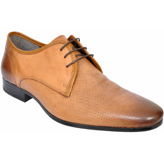 Allen Cooper ACFS-12112 Tan Leather Formal Shoes For Men