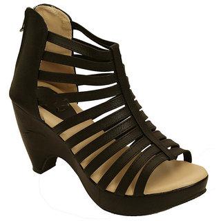 Vaniya Shoes Black Cone Heels cheap online best place sale online discount footaction outlet exclusive 2014 unisex cheap online eOBZJi7D