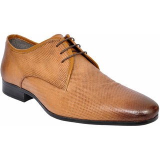 Allen Cooper ACFS-12113 Tan Leather Formal Shoes For Men