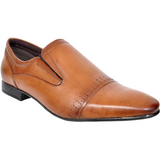 Allen Cooper ACFS-12114 Tan leather formal Shoes for Men