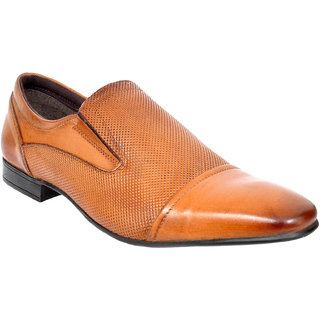 Allen Cooper ACFS-12115 Tan leather formal Shoes for Men