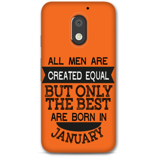 Moto E3 power Designer Hard-Plastic Phone Cover from Print Opera -Men born in january