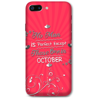 Iphone 7 plus Designer Hard-Plastic Phone Cover from Print Opera -Perfect man born in October