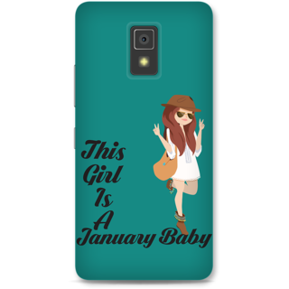 Lenovo A6600 Designer Hard-Plastic Phone Cover from Print Opera -This girl is a january baby
