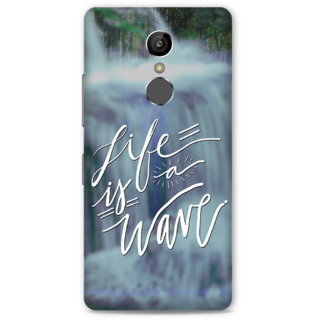 Gionee S6S Designer Hard-Plastic Phone Cover from Print Opera -Life is a wave