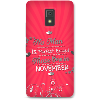 Lenovo A6600 Designer Hard-Plastic Phone Cover from Print Opera -Perfect man born in November
