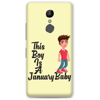 Gionee S6S Designer Hard-Plastic Phone Cover from Print Opera -This boy is a january baby