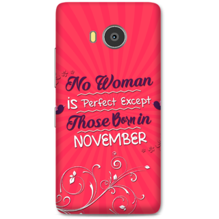 Lenovo A7700 Designer Hard-Plastic Phone Cover from Print Opera -Perfect women born in November