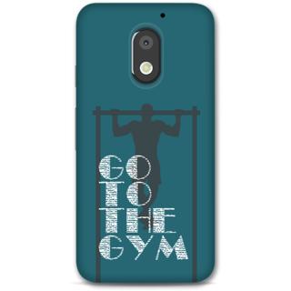Moto E3 power Designer Hard-Plastic Phone Cover from Print Opera -Go to the gym