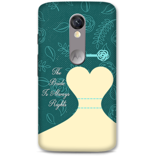 Moto X Force Designer Hard-Plastic Phone Cover from Print Opera -Rights Of Bride