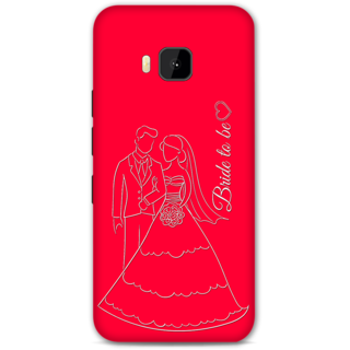 HTC one M9 Designer Hard-Plastic Phone Cover from Print Opera -Bride To Be