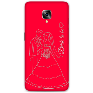 One Plus Three Designer Hard-Plastic Phone Cover from Print Opera -Bride To Be