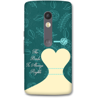 Moto X Play Designer Hard-Plastic Phone Cover from Print Opera -Rights Of Bride