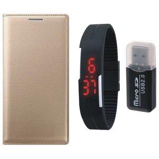 Vivo V3 Flip Cover with Memory Card Reader, Digital Watch