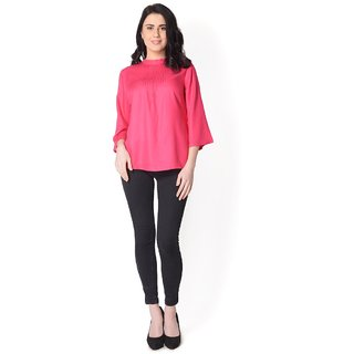 Yaadleen Rayon Regular Tops - Peach